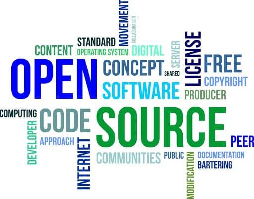 Nuage de mots sur l'open source
